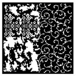 Prima - Re-Design Collection - Mixed Media Stencil - Distressed Flourish