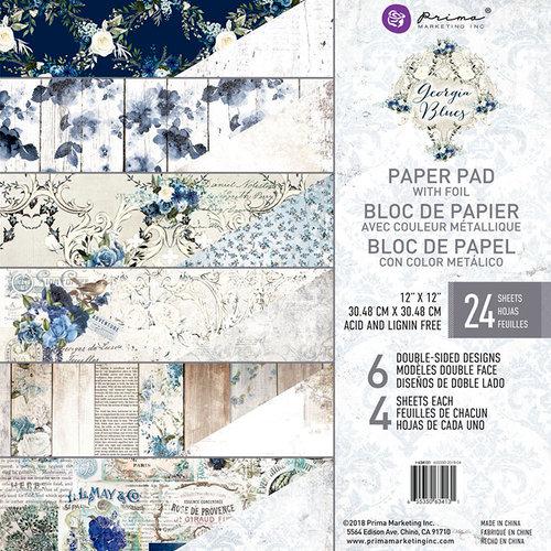 Prima - Georgia Blues Collection - 12 x 12 Paper Pad