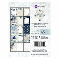 Prima - Georgia Blues Collection - 3 x 4 Journaling Cards