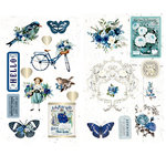 Prima - Georgia Blues Collection - Chipboard Stickers