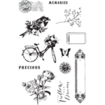 Prima - Georgia Blues Collection - Cling Mounted Rubber Stamps
