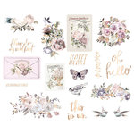 Prima - Lavender Frost Collection - Chipboard Stickers