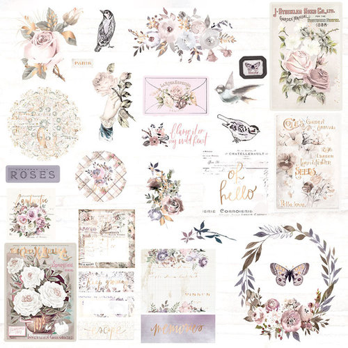 Prima - Lavender Frost Collection - Ephemera