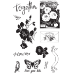 Prima - Lavender Frost Collection - Cling Mounted Rubber Stamps