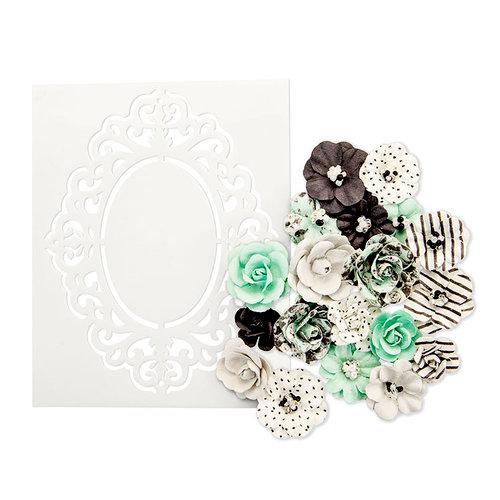 Prima - Flirty Fleur Collection - Flower Embellishments - Minty Sprinkles