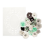Prima - Flirty Fleur Collection - Flower Embellishments - Minty Sprinkles