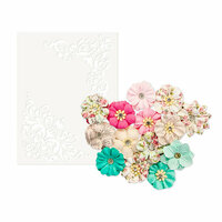 Prima - Misty Rose Collection - Flower Embellishments - Ashby