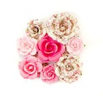 Prima - Misty Rose Collection - Flower Embellishments - Olivia