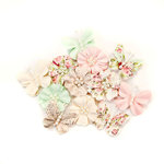 Prima - Misty Rose Collection - Flower Embellishments - Dacey