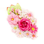 Prima - Misty Rose Collection - Flower Embellishments - Lafayette