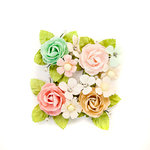 Prima - Misty Rose Collection - Flower Embellishments - Paxton