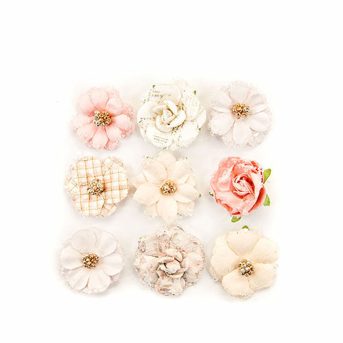 Prima - Lavender Frost Collection - Flower Embellishments - 12th Night