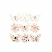 Prima - Lavender Frost Collection - Flower Embellishments - Pale Wind