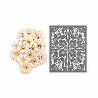 Prima - Lavender Frost Collection - Flower Embellishments - Garden Petals