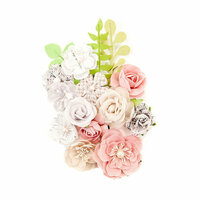Prima - Lavender Frost Collection - Flower Embellishments - Misty Nights