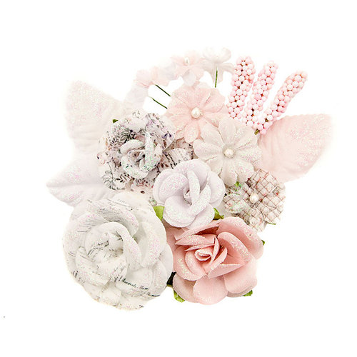 Prima - Lavender Frost Collection - Flower Embellishments - Fragrant Symphony
