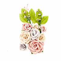 Prima - Lavender Frost Collection - Flower Embellishments - Provincial Garden