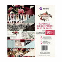 Prima - Midnight Garden Collection - 6 x 6 Paper Pad