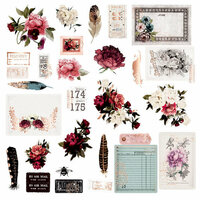 Prima - Midnight Garden Collection - Ephemera 1 with Foil Accents
