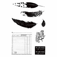 Prima - Midnight Garden Collection - Cling Mounted Rubber Stamps