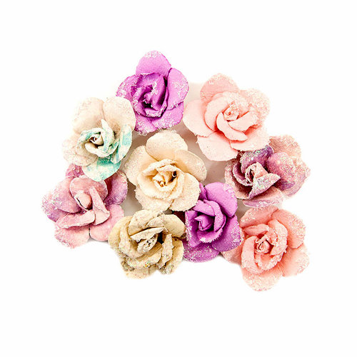 Prima - Moon Child Collection - Flower Embellishments - Crescent Moon