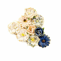 Prima - Georgia Blues Collection - Flower Embellishments - Montgomery