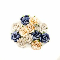 Prima - Georgia Blues Collection - Flower Embellishments - Berrien