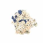 Prima - Georgia Blues Collection - Flower Embellishments - Turner
