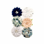 Prima - Georgia Blues Collection - Flower Embellishments - Augusta
