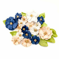 Prima - Georgia Blues Collection - Flower Embellishments - Morgan