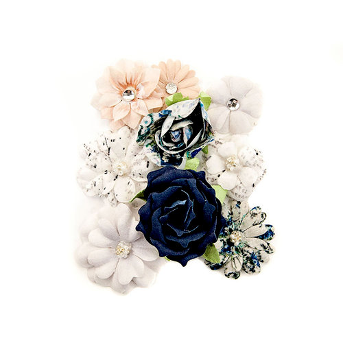 Prima - Georgia Blues Collection - Flower Embellishments - Mitchell
