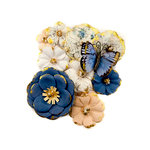 Prima - Georgia Blues Collection - Flower Embellishments - Madison