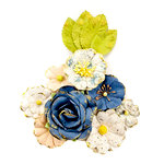 Prima - Georgia Blues Collection - Flower Embellishments - Monroe