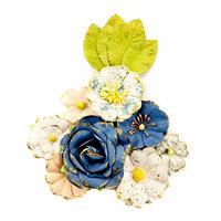 Prima - Georgia Blues Collection - Flower Embellishments - Monroe