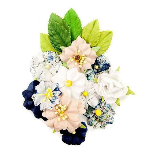 Prima - Georgia Blues Collection - Flower Embellishments - Emerson