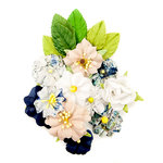 Prima - Georgia Blues Collection - Flower Embellishments - Emerson