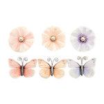 Prima - Poetic Rose Collection - Flower Embellishments - Unique Poems