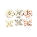 Prima - Poetic Rose Collection - Flower Embellishments - Dainty Dreams