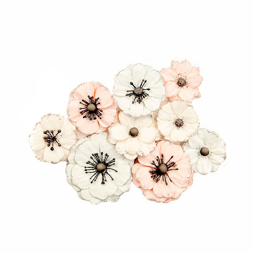 Prima - Poetic Rose Collection - Flower Embellishments - Daydreams
