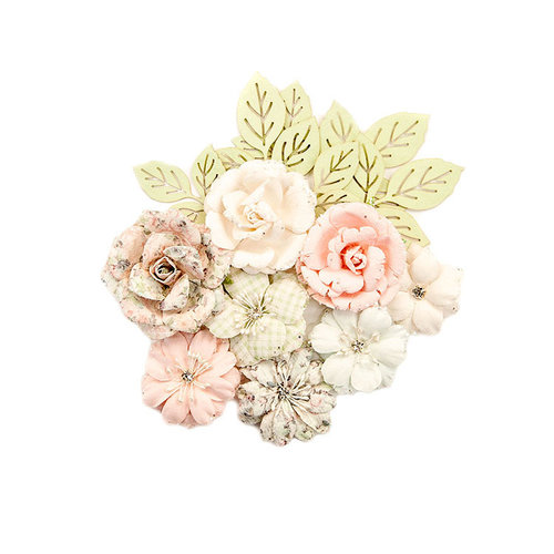 Prima - Poetic Rose Collection - Flower Embellishments - Enchanted