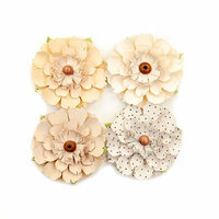 Prima - Pretty Pale Collection - Flower Embellishments - Neutral Beauty