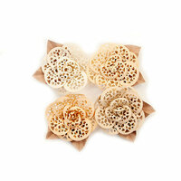 Prima - Pretty Pale Collection - Flower Embellishments - Organic Elegance