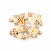 Prima - Pretty Pale Collection - Flower Embellishments - Rustic Floral