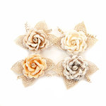 Prima - Pretty Pale Collection - Flower Embellishments - Sand Dunes