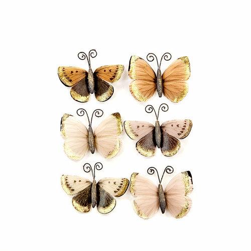 Prima - Pretty Pale Collection - Flower Embellishments - Mystical Flight