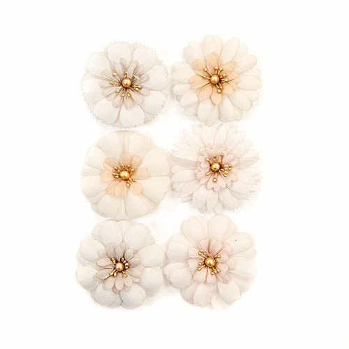 Prima - Pretty Pale Collection - Flower Embellishments - Pale Petals