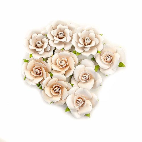 Prima - Pretty Pale Collection - Flower Embellishments - Dry Desert