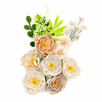 Prima - Pretty Pale Collection - Flower Embellishments - Arid Land
