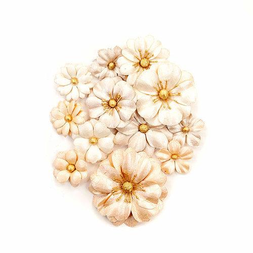 Prima - Pretty Pale Collection - Flower Embellishments - Light Dunes
