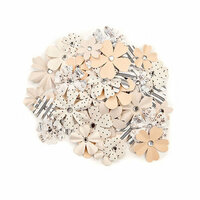 Prima - Pretty Pale Collection - Flower Embellishments - Organic Beauty